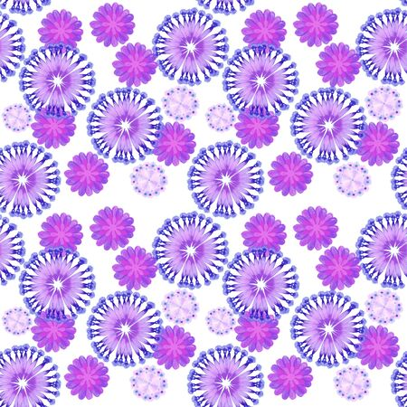 Violet floral seamless Stock Photo