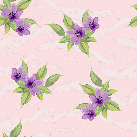 violet flowers: Violet flowers on pink background