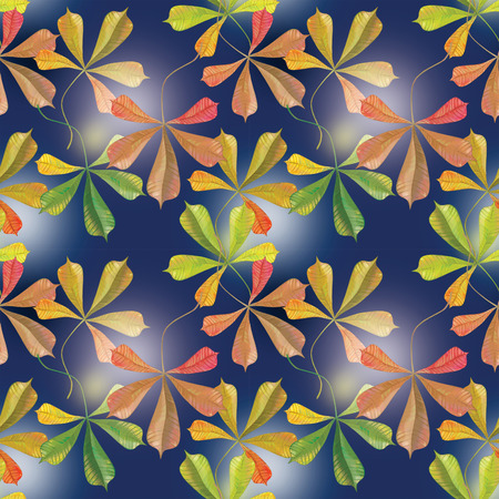 Chestnut leaf on autumn seamless Banco de Imagens