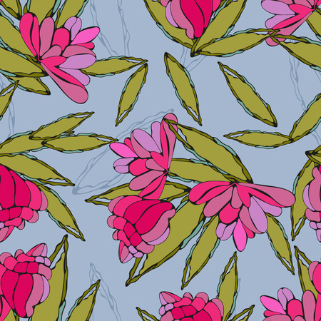 Summer pattern for textile Illustration