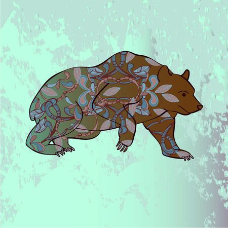 Design of bear with patterns