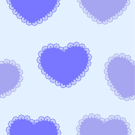 corazones azules: corazones azules en la materia textil Vectores