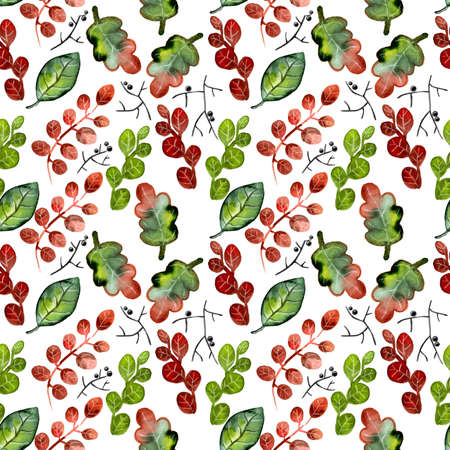 colourfull: Summer watercolor pattern for textile