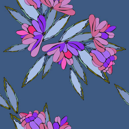 Summer textile with graphic  stylish arts for dress Illustration