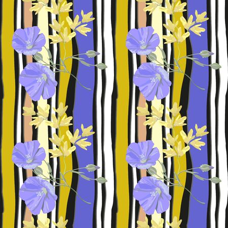 fascia: Floral pattern for textile and background Illustration