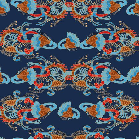 deep: Deep eastern pattern for textile