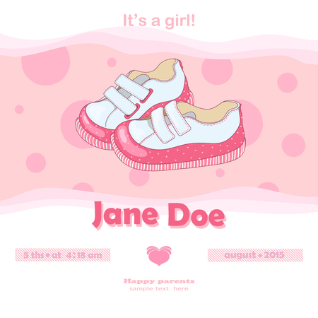 bootees: Pink bootees for girl