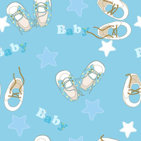 baby's: Babys bootees on pattern