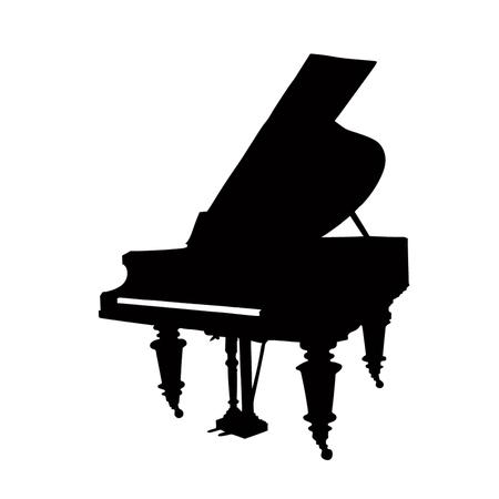 Silhouette de piano