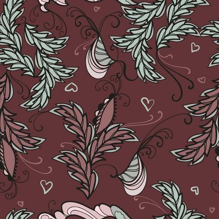 Abstract brown pattern for paper and textile