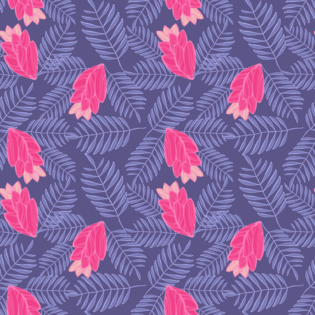 Floral lilac pattern for cloth