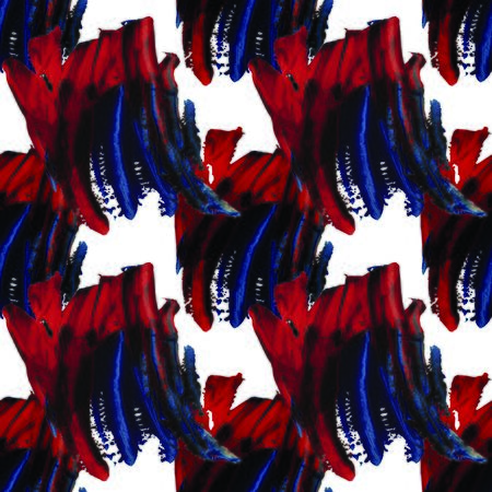 Red and blue paint on pattern Stock Photo