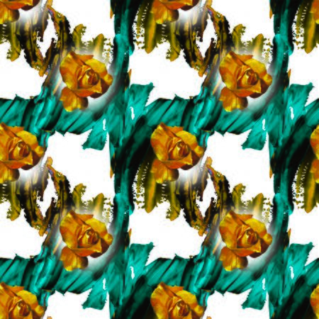 Yellow rose and abstract pattern Stock Photo