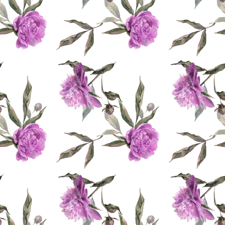 Soft violet peony for textile