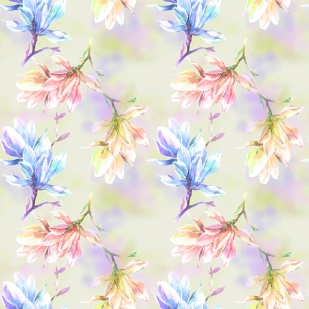 Soft summer pattern for textile Stock Photo