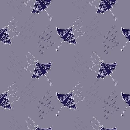Violet seamless with umbrella
