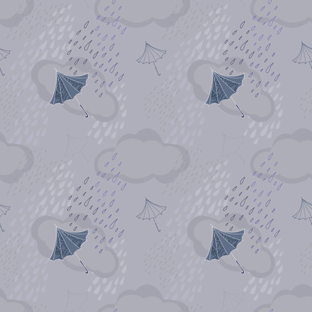 Gray seamless with clouds