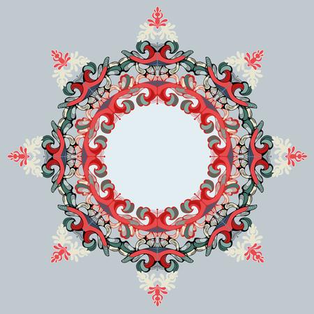 Indian pattern, floral elements