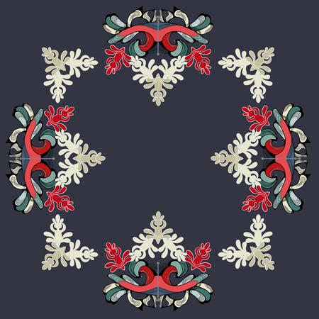 East pattern for frame