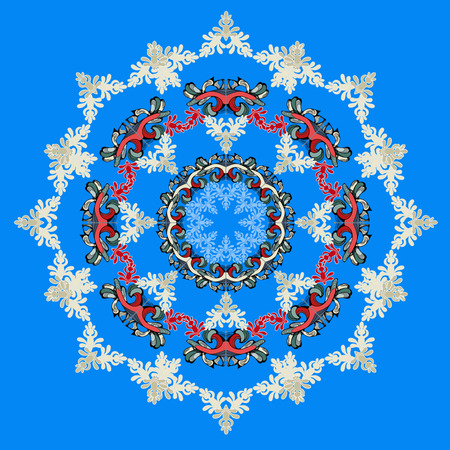 Blue background and east ornament Illustration