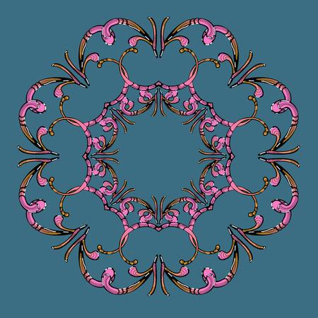 Pink pattern for east design Illustration