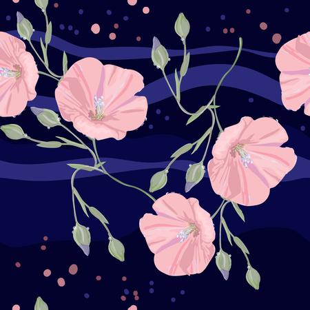 Pink flowers on deep background Illustration