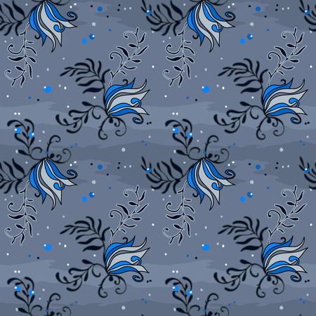Abstract gray pattern for textile Illustration