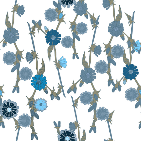 Blue field flowers for pattern