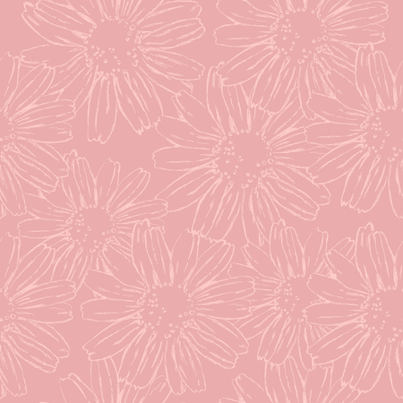 Pink monochrome pattern for decor