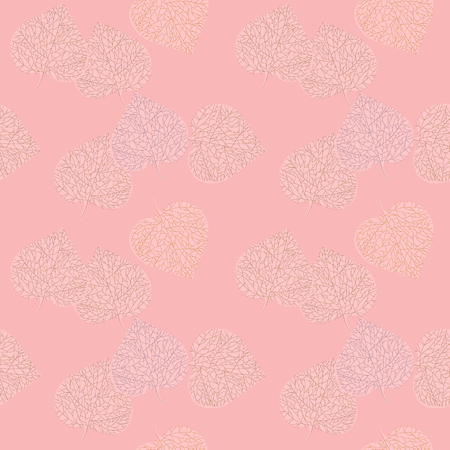 Soft autumn pattern, pink background Ilustrace