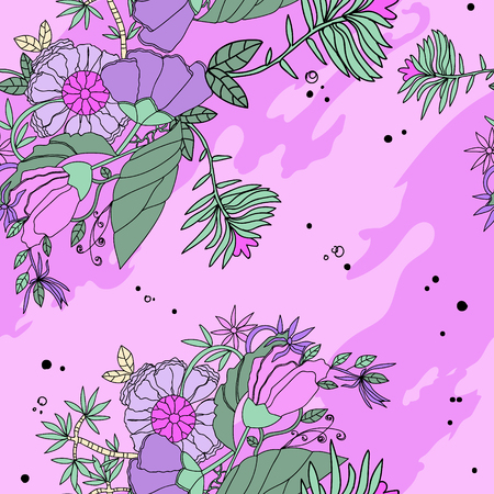 Pink background with pink flowers Ilustrace