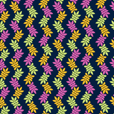 Autumn pattern with color leaves Ilustrace