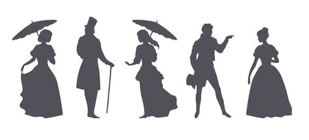 Clothing style of the 18th century, silhouettes of men and women