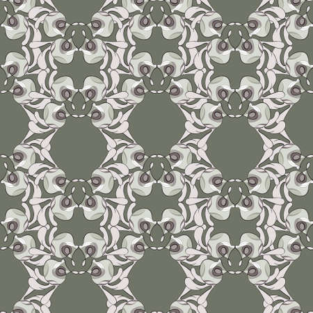 Abstract ornament in restrained colors, suitable for fabrics or wallpapers, seamless