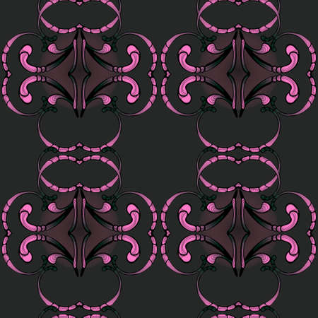 Oriental pattern with stylized floral ornament, created for printing on fabrics