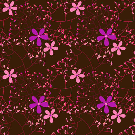 Stylized ornament created for fabrics or decorative paper, lilac colors
