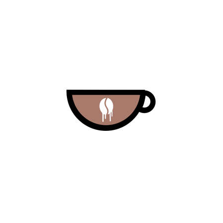 abstract sign of cafe, vector template of cafeteria and bistro. Illustration design of monoline, minimalistic, simple logotype coffee. Vector icon cup with drink.