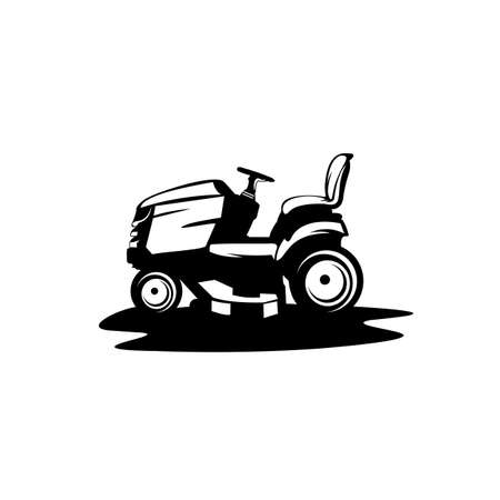 Lawn tractor icon, Simple illustration of lawnmower vector icon for web design isolated on white background
