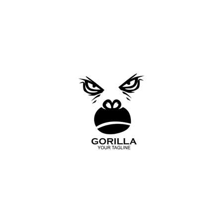 Vector illustration fierce gorilla, Modern Head Monkey 矢量图像