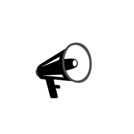 Vector loudspeaker icon, social media marketing concept
