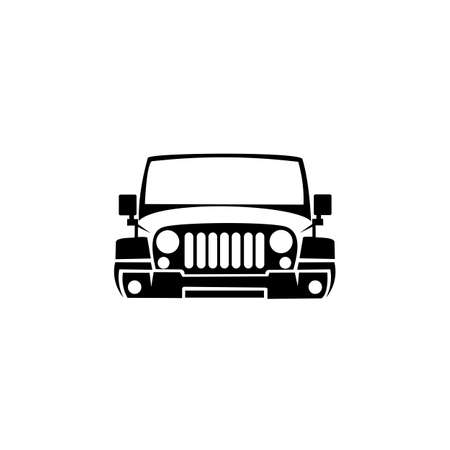 Jeep vector icons, Summer trips and holidays, adventure and crossover concepts. Vector sketch illustration for print, web, cellular, and vector with a white background. 일러스트