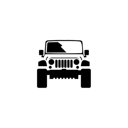 4x4 vehicle vector icons, Summer trips and holidays, adventure and crossover concepts. Vector sketch illustration for print, web, cellular, and vector with a white background.