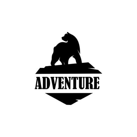cool explorer bear, Mountain Camping Gift, Camping and outdoor adventure emblems 向量圖像