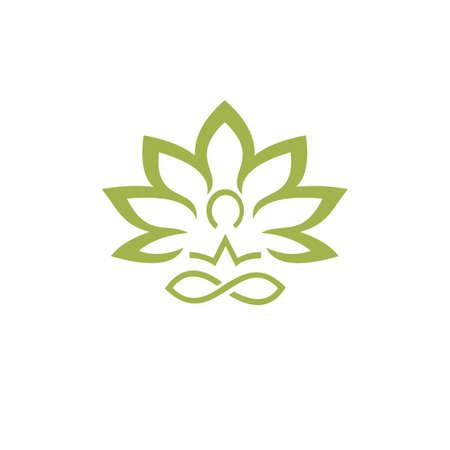 human health care logo, reflexology, zone therapy logo Illusztráció