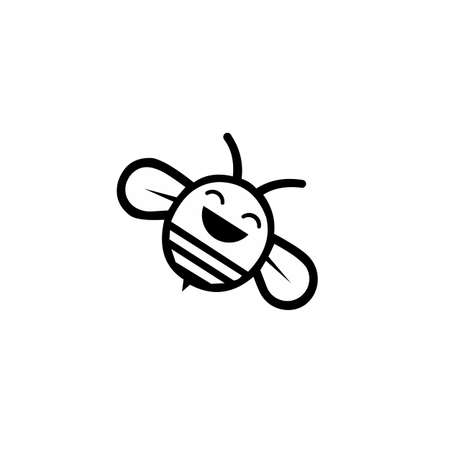 Bee icon logo design inspiration vector template, logos for products and other design needs