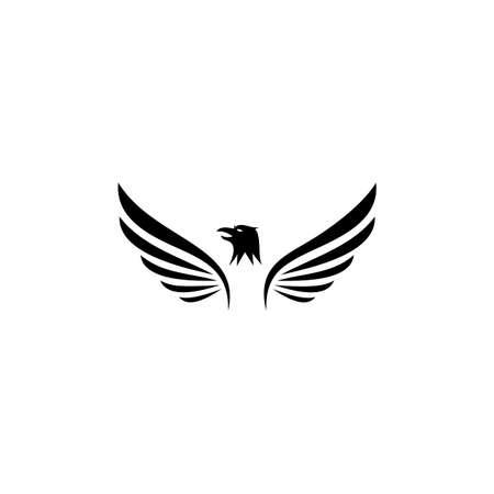 eagle symbol illustration, Icon design on white background.