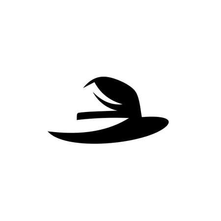 beach hat panama icon, Isolated on white background.