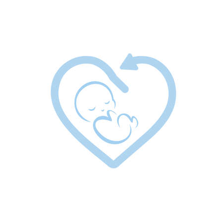 Child care icon. Baby icon. Vector illustration on white background.