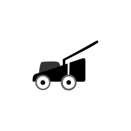 Lawn mower icon symbol Flat vector illustration for graphic and web design. Isolated on white background.