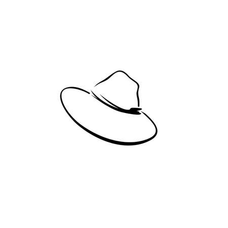 masculine elegant hat icon. Isolated on white background.
